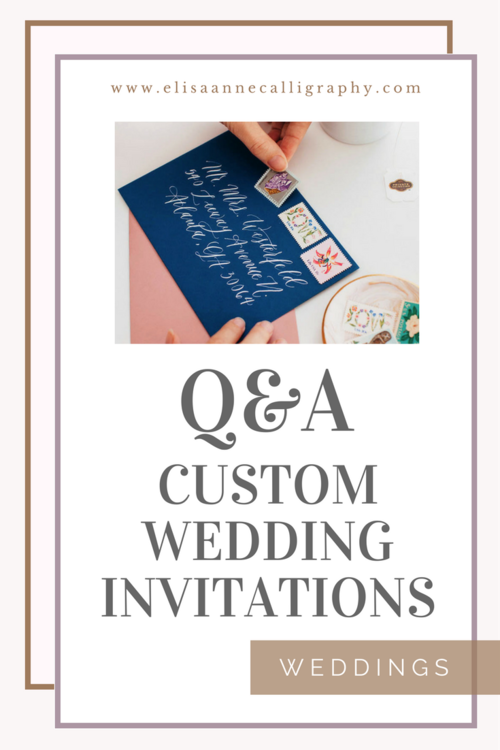 5 commonly asked questions about custom wedding invitations