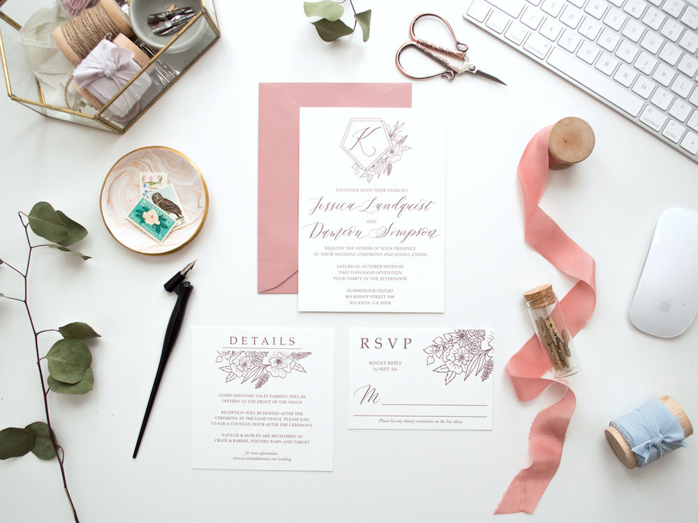 IMPORTANT TO NOTE: Stationers and calligraphers have to charge a design fee to make a living! Most of the time this design fee is around $1,000  at least . You are paying to have someone make custom wedding invitations specifically for you, and that takes a lot of time and talent!