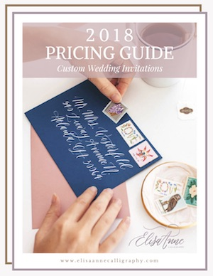 custom wedding invitation pricing guide, atlanta stationer