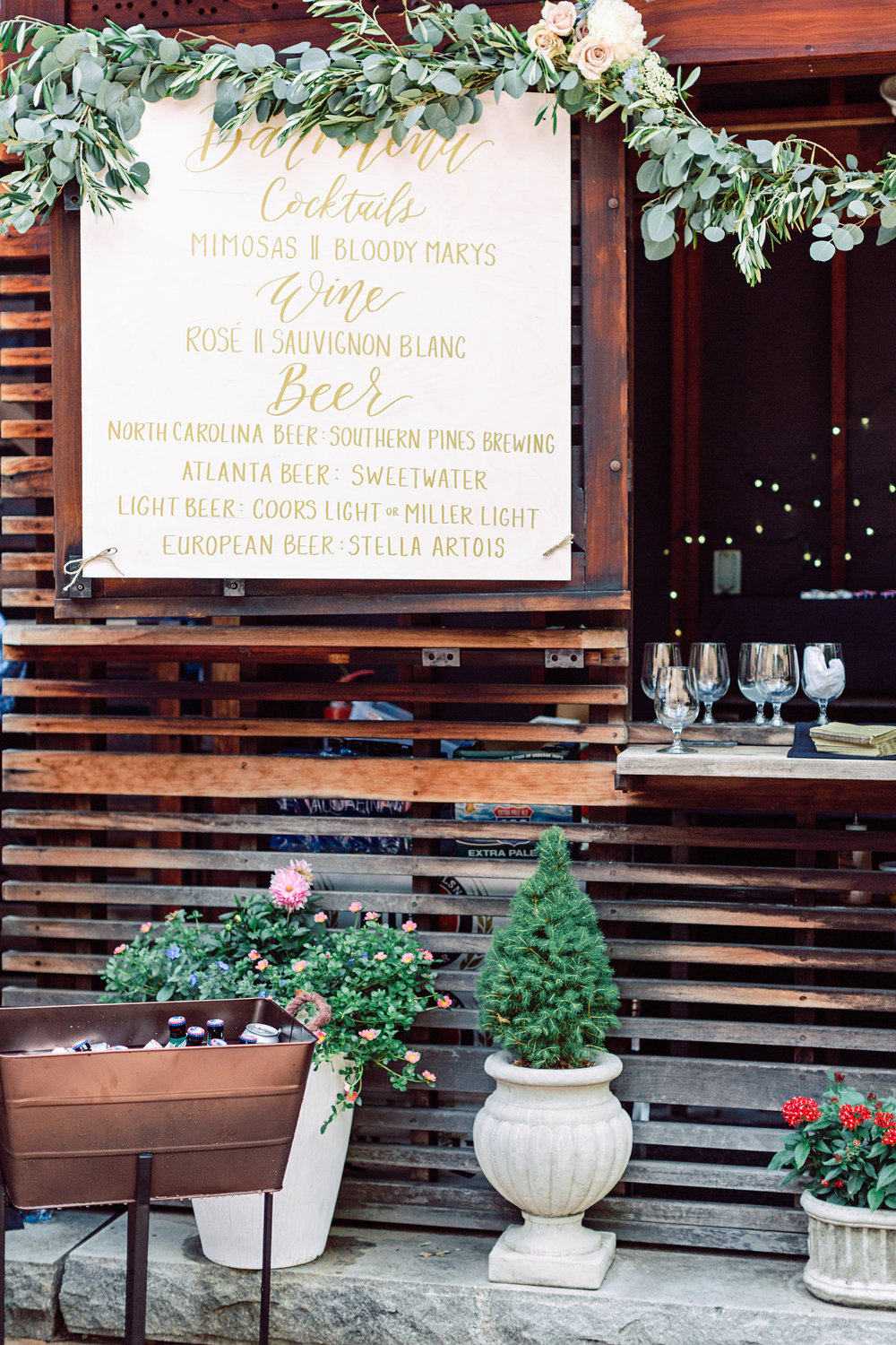 One of the 3x3 feet wood signs installed at Katherine & Grant's wedding in June. Venue was The Trolley Barn in downtown Atlanta. Florals were by the wonderful    Victory Blooms   . Photography by    Diana Lupu Photography   .