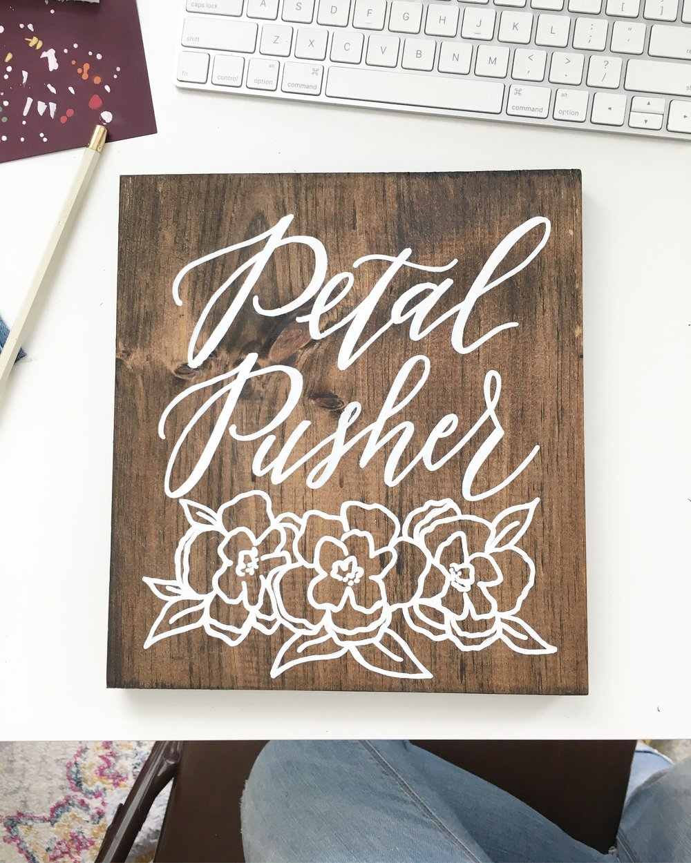 petal pusher wedding sign, wood wedding sign, wood sign shop, custom wood signs