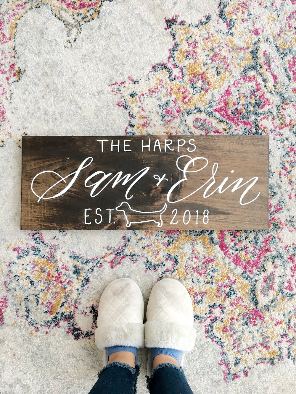 family name wood sign, wood sign shop, hand lettered wood sign, calligraphy wood sign, established wood sign, wood wedding sign