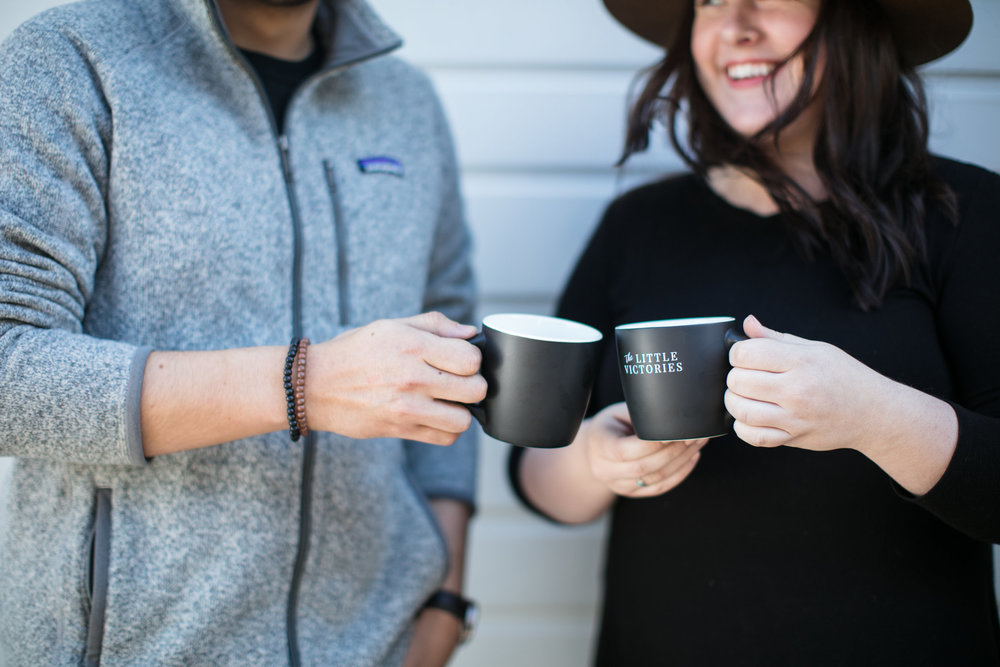 "This photo is directly from  Dubsado.com  (definitely not trying to claim it as my own) and it features their amazing ""The Little Victories"" mug. I use mine all the time when I'm working on different client projects."