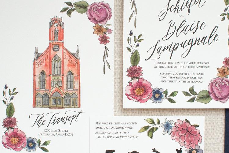 Transept Invitation Suite Elisaanne Calligraphy