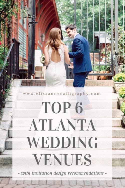 Top 6 Atlanta Wedding Venues with Wedding Invitation Design Ideas ...