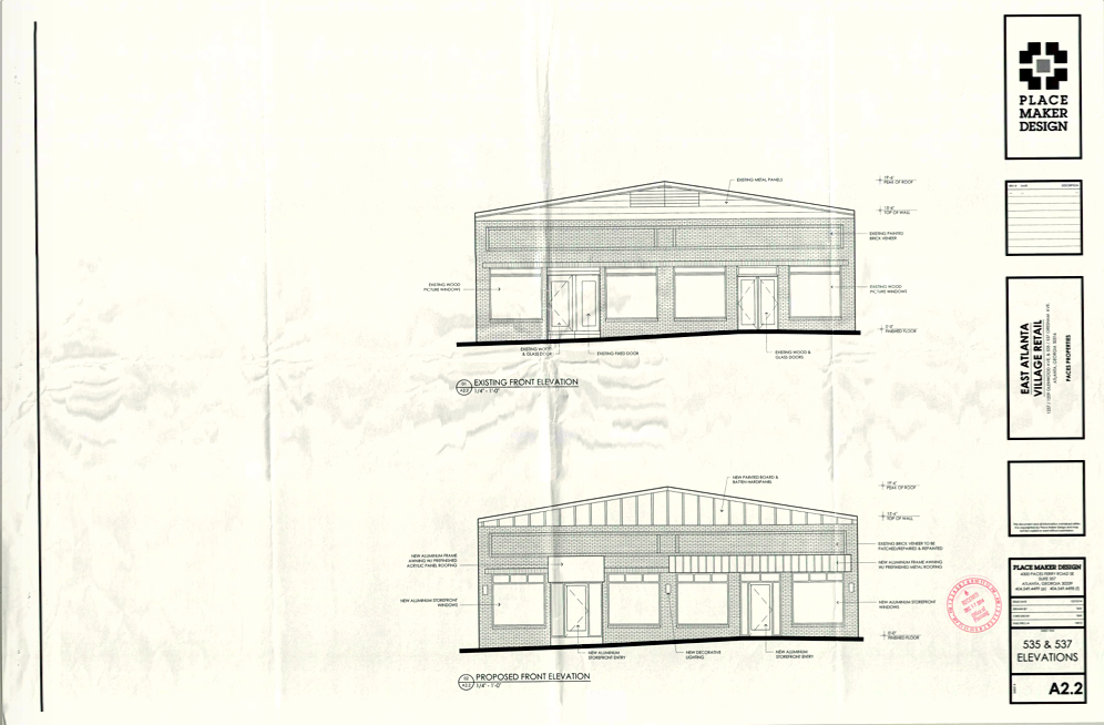 Site Elevation 535 & 537 Gresham