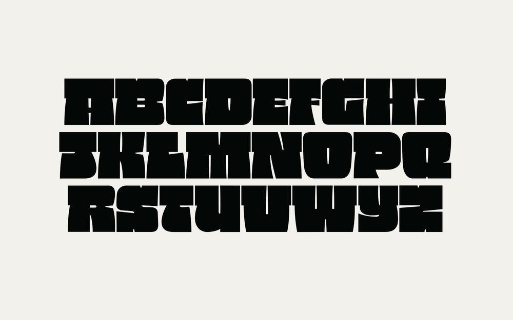 XXX Black, Experimental Typeface