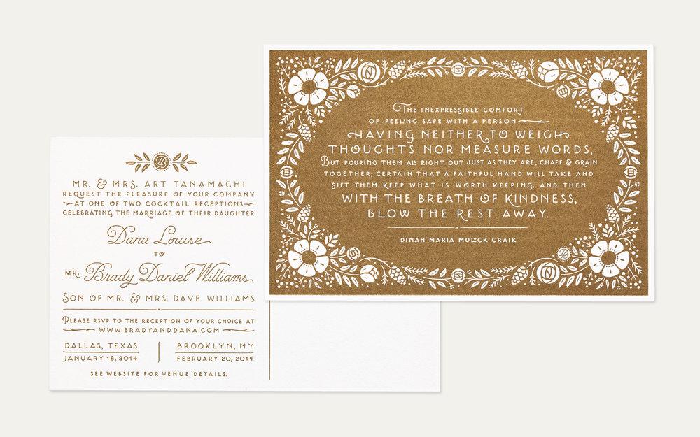 Wedding Invitations Charles Thorn Lettering Illustration For