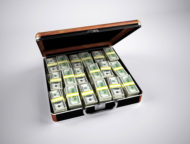 Briefcase full of american dollars.