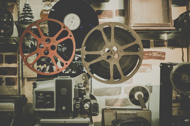 Old film projector.