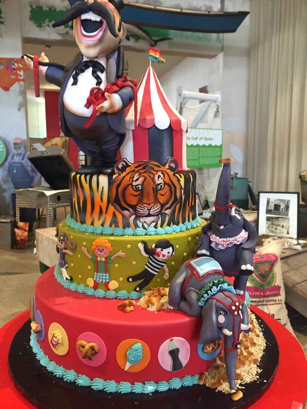 Melissa Daniel's winning Carnival Cake
