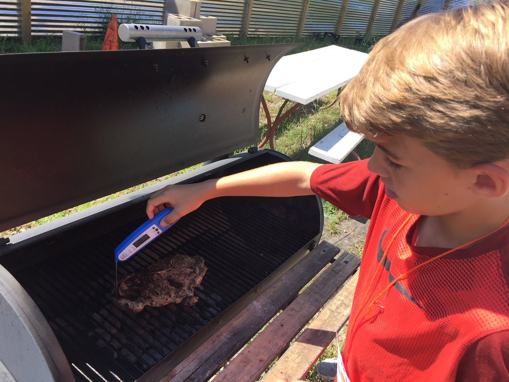Now he can take over for July 4th grilling!