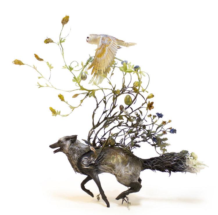 Plant & Animal sculpture by Ellen Jewett Merge