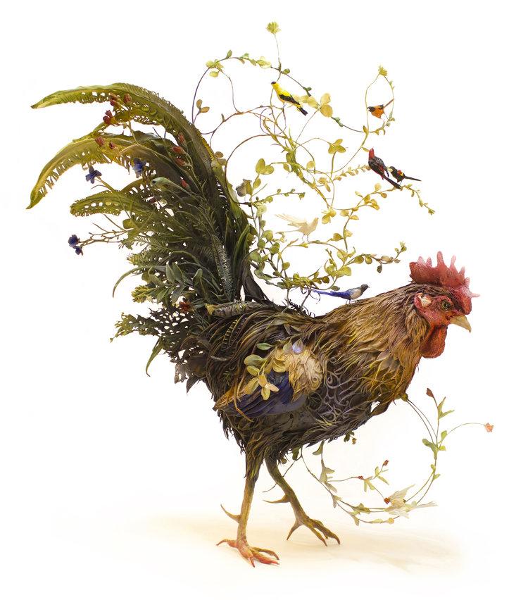 Ellen Jewett Sculpture - Surreal animal plant sculptures ellen jewett