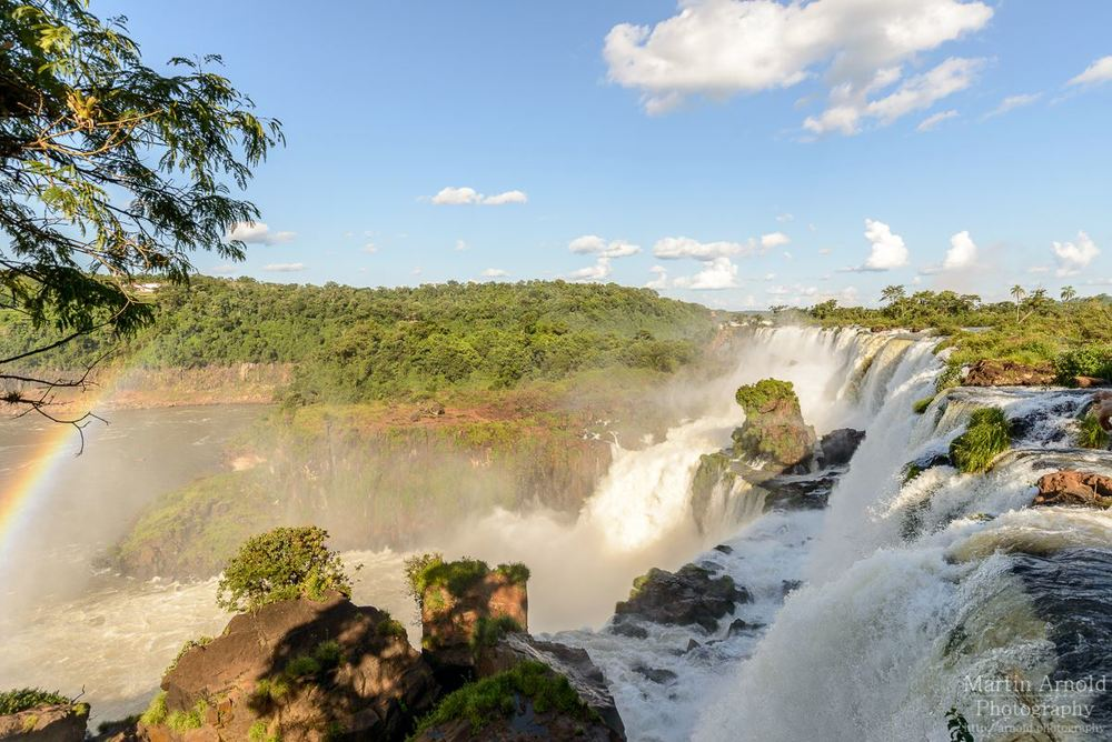 Iguazu Falls photographed from the Argentinian side
