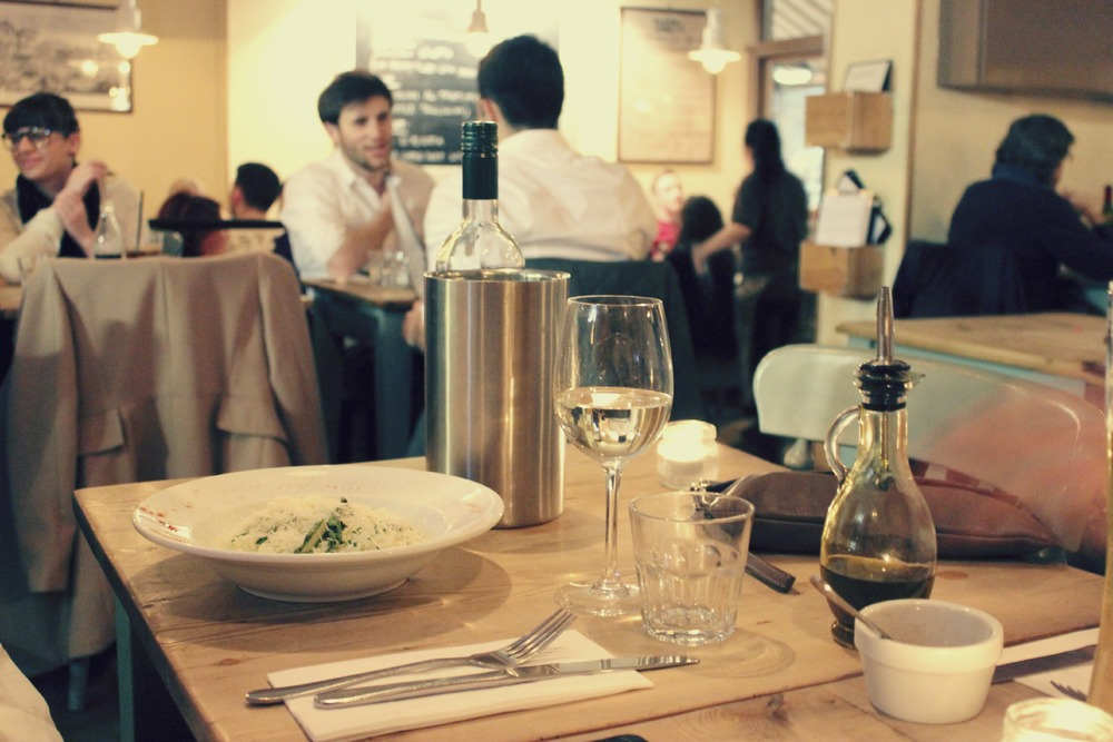 atmospheric italian restaurant shoreditch london