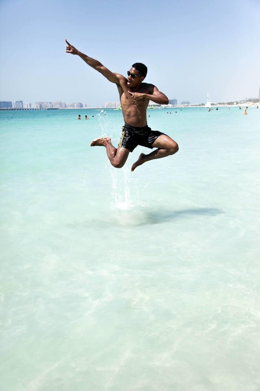 ninja jump dubai beach