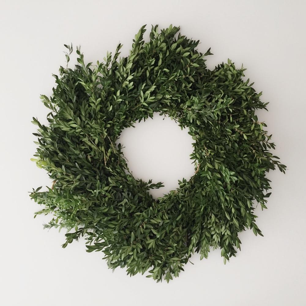 Trader Joe's Boxwood Wreath For Filler