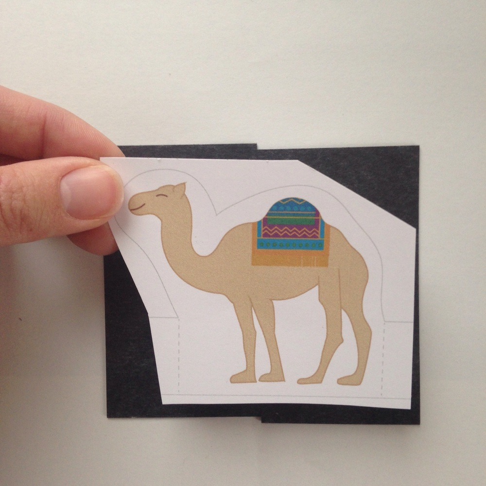 Two magnetic business cards to fit camel.