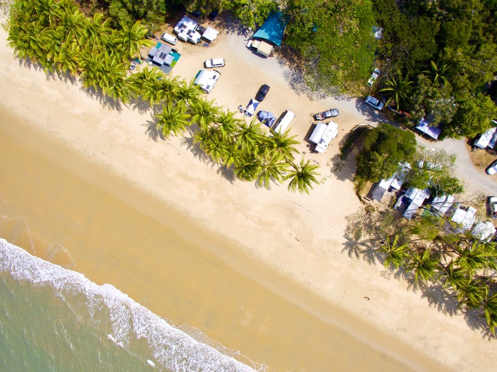 This is a photo from our drone of Ellis beach.