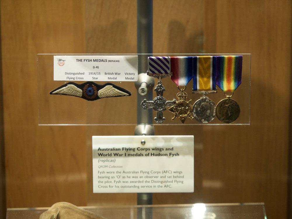 Hudson Fysh's medals.