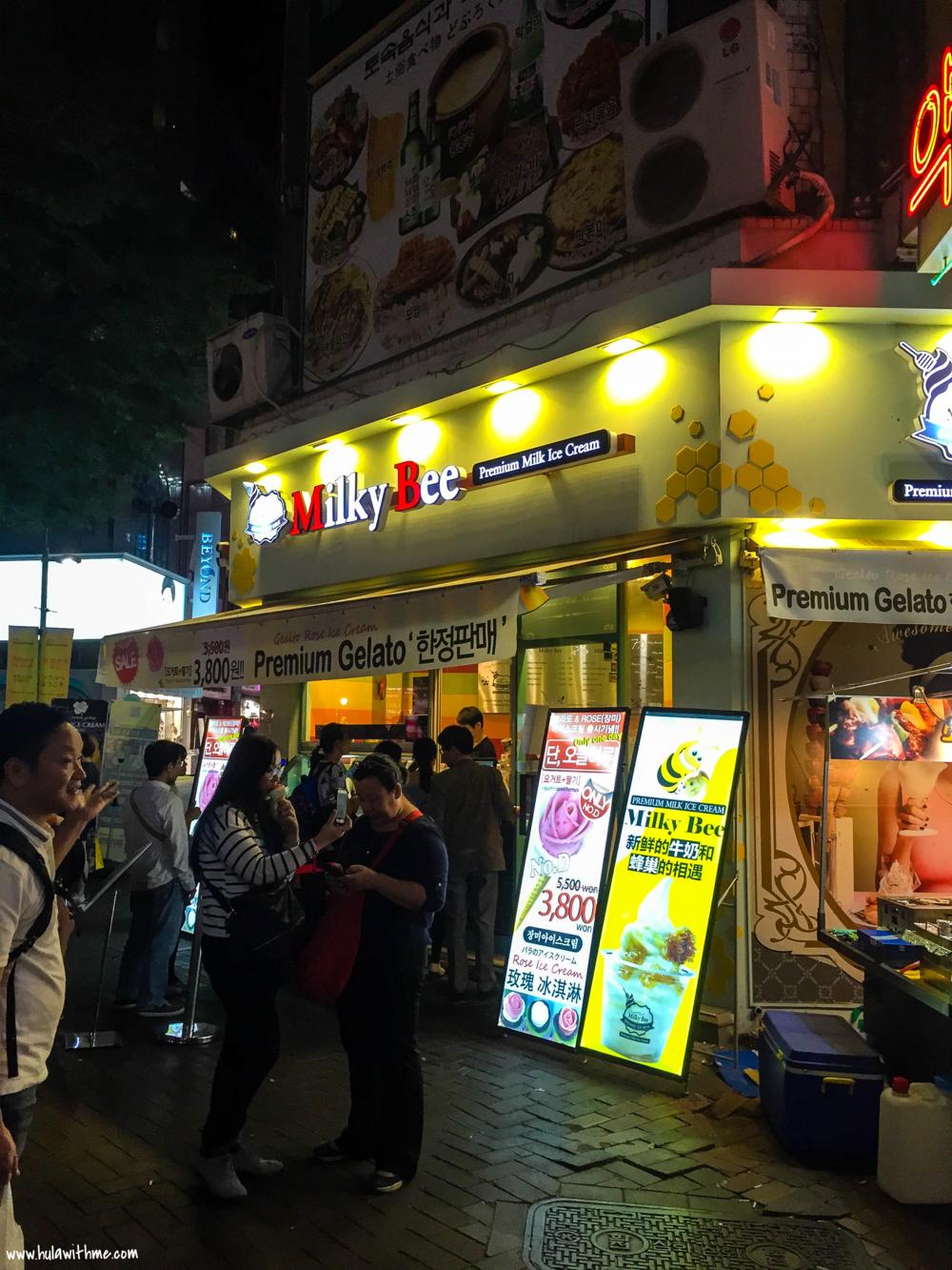 Milky Bee Ice Creamery, Myeongdong, Seoul, Korea