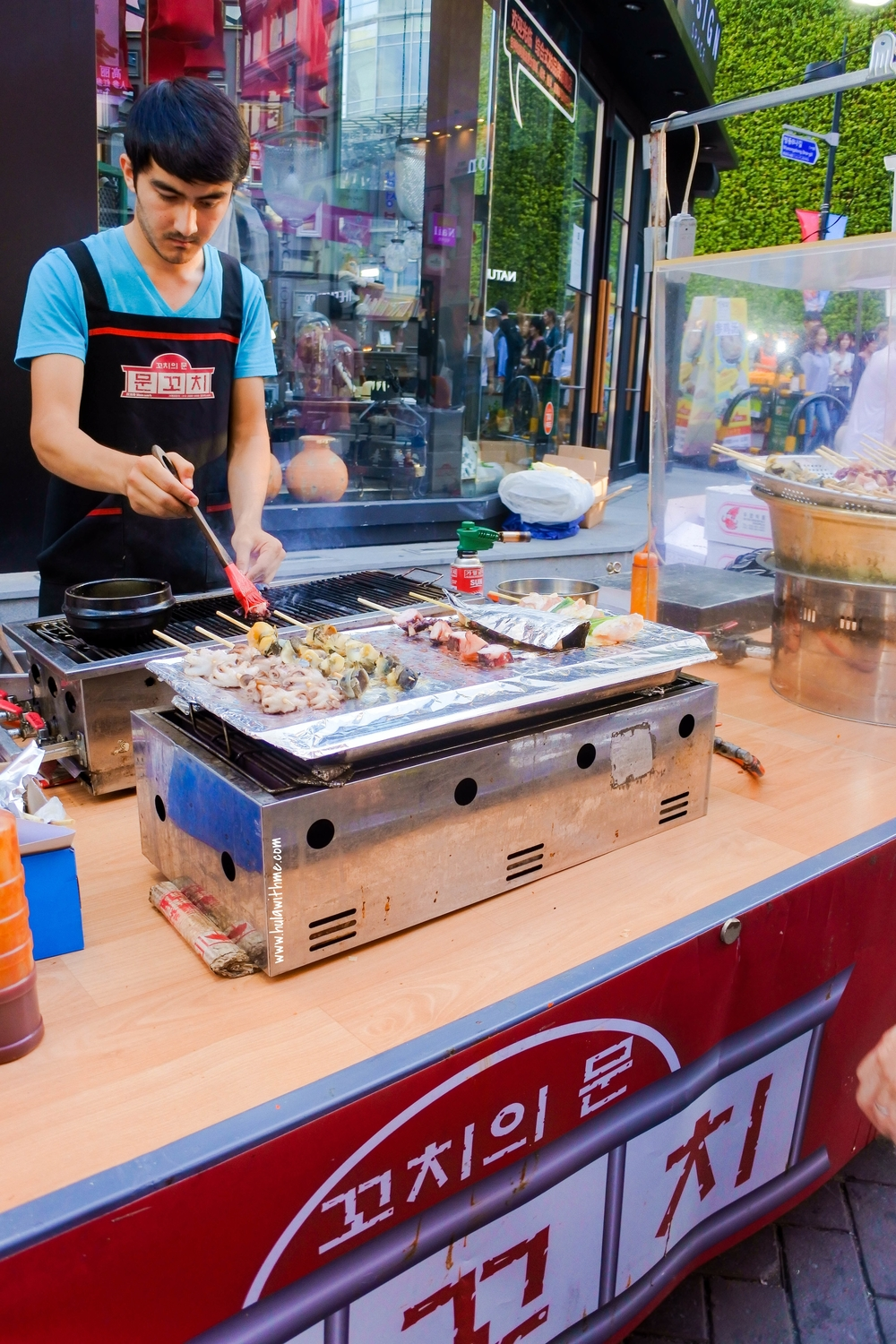 Seoul street food - Grilled squid