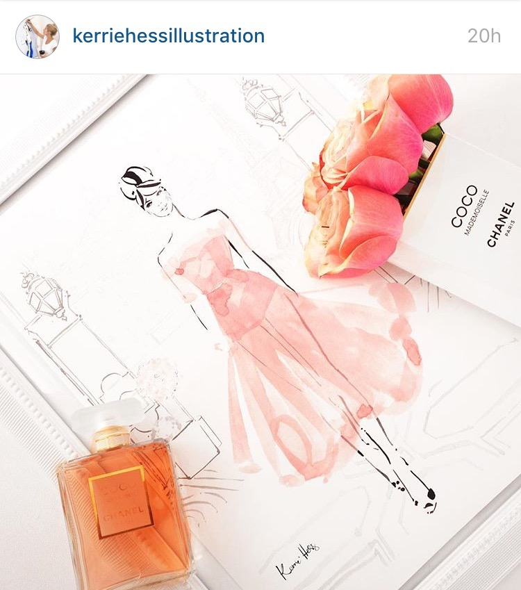 Kerrie Hess, Australian fashion illustrator who has worked for Chanel, Louis, Vutton, Lancome Paris.