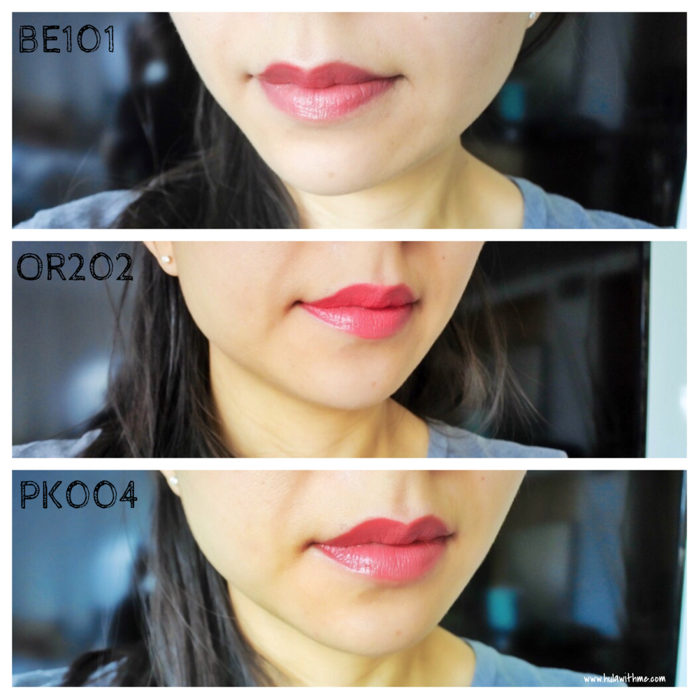 Color swatch: Etude House Dear My Enamel and Dear My Wish Lipsticks