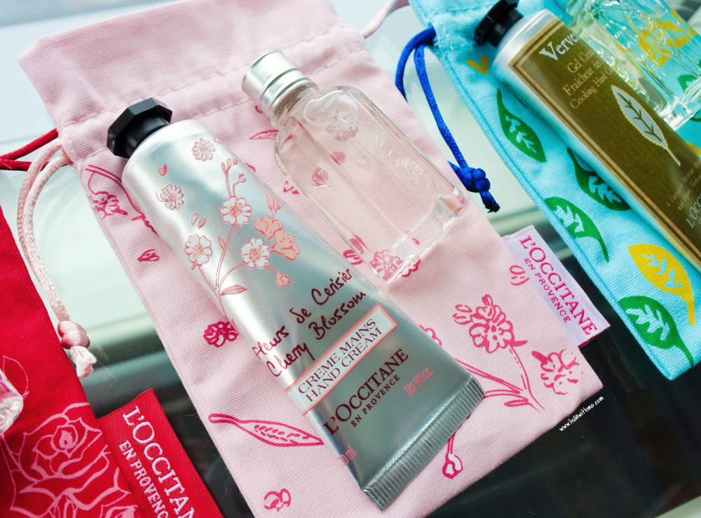 L'Occitane inflight duty free exclusives - Cherry Blossom collection