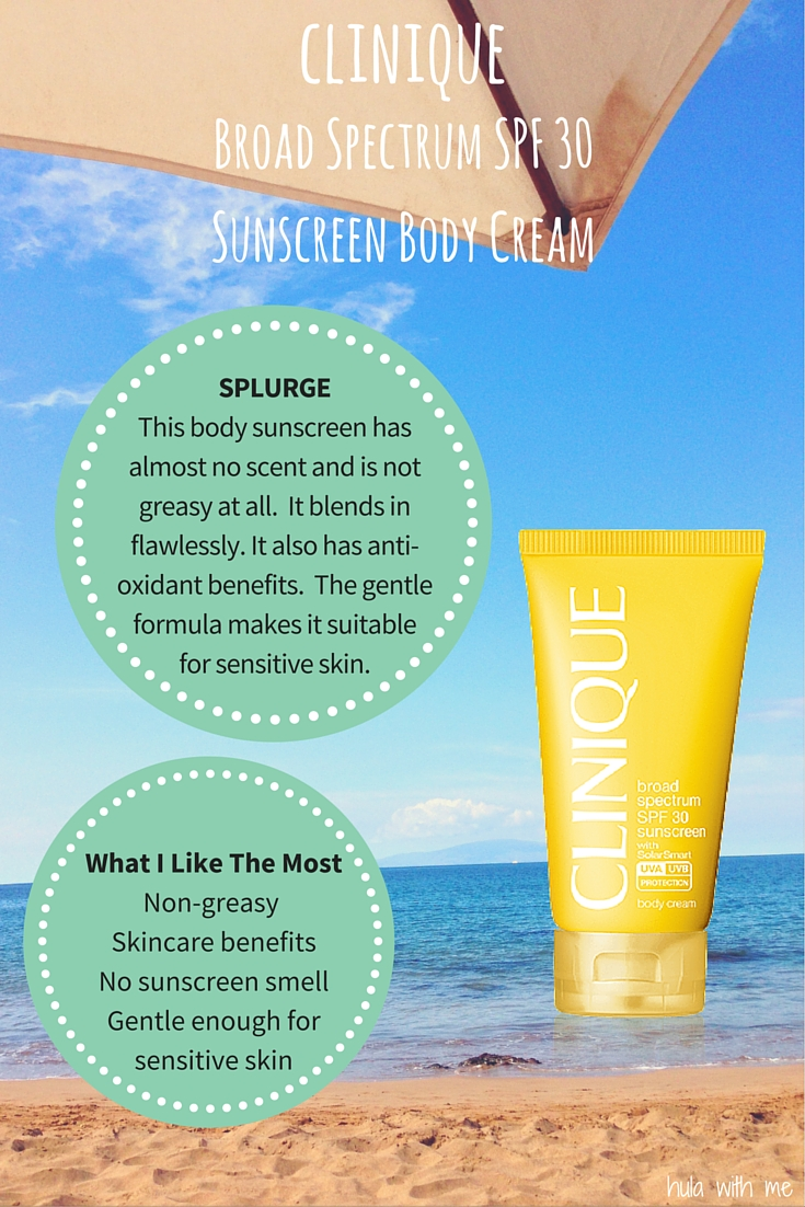 Clinique Broad Spectrum SPF 30 Sunscreen Body Cream