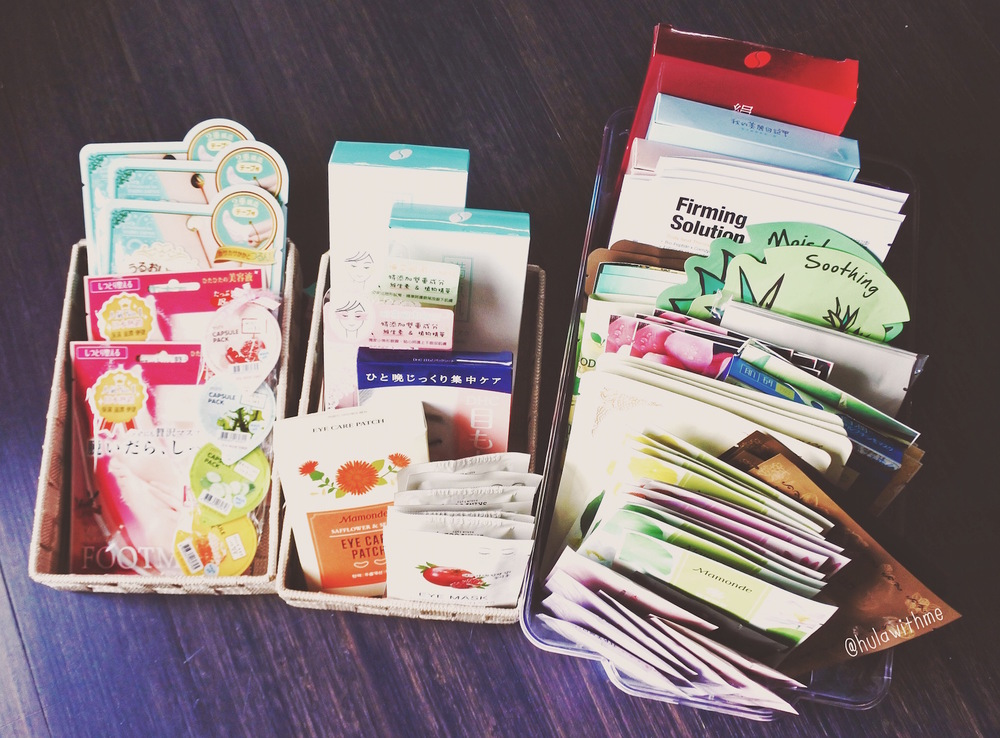 Lots and lots of beauty sheet masks!