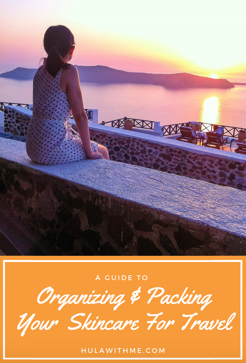 A guide to organizing and packing your skincare for travel.