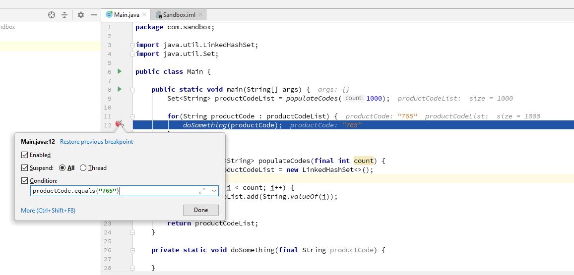 Conditional Breakpoints in IntelliJ | Code by Amir