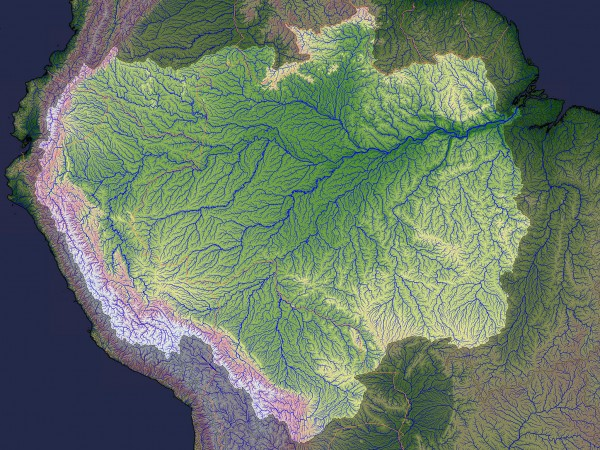 Amazon River Basin ~ NASA Jesse Allen
