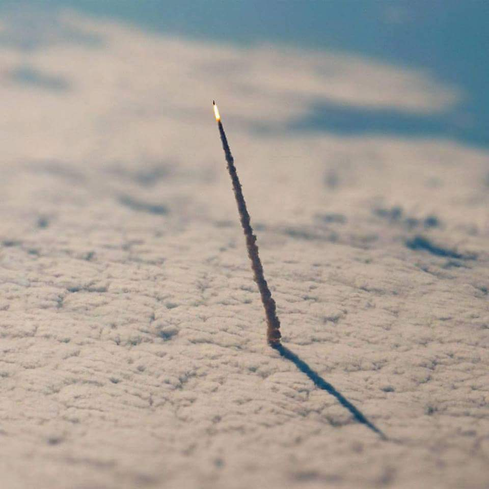 Space Shuttle Endeavor from ISS