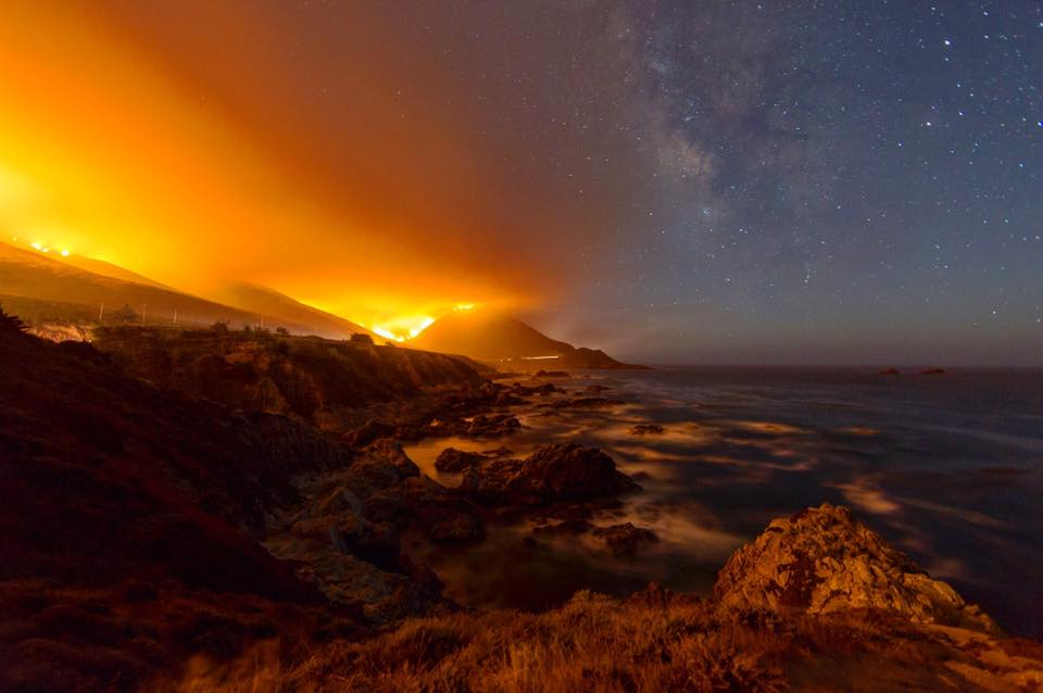 Soberanes Fire near Big Sur ~ Li Liu
