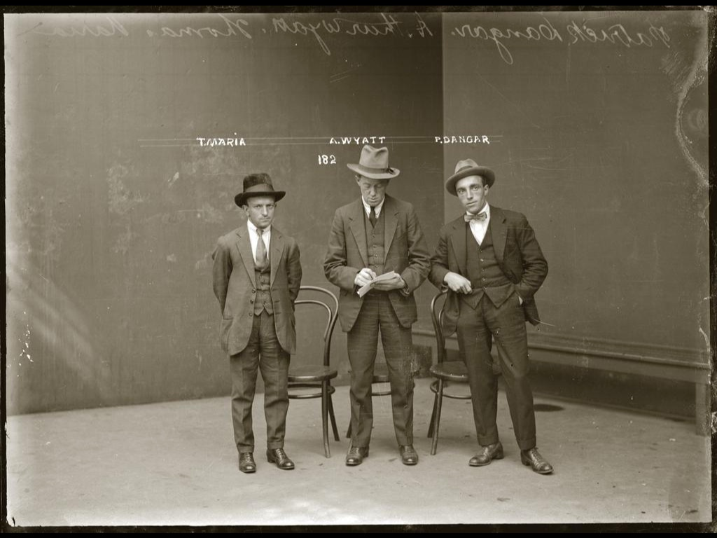 Gangsters in Jail in Australia in the 1920's