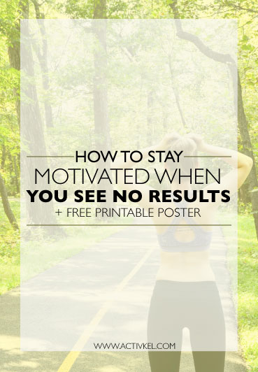 Seeing little to no results from your workout program? Losing motivation because you're not seeing the results you want? No worries! Here are five tips to stay motivated and start seeing the results you want. Plus, click through to download a free printable poster!