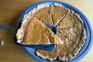 Healthy pumpkin pie - serves 8