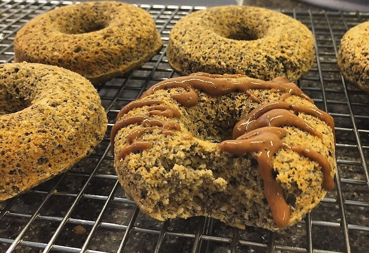 Out-the-door Chia Power Doughnuts