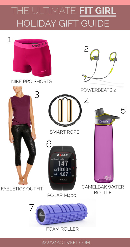 The ultimate holiday gift guide of 2015 for the fit girl in your life. Don't just buy her new gym shoes - go all out and get her one of these super SWEET gifts! Click through to read up on the awesome benefits of each one.