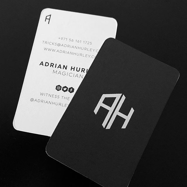 Business card design for magician @adrian.hurley.magician. . . . . #businesscards #businesscardsdesign #stationery #brandingdesigner #freelancedesigner #graphicdesign #identity #magician #magic #magictricks #magicians #magical #dubai #dubaidesign #dubaidesign