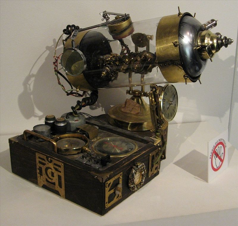 Steampunk prop by Molly Porkshanks Friedrich. Licensed under Creative Commons.