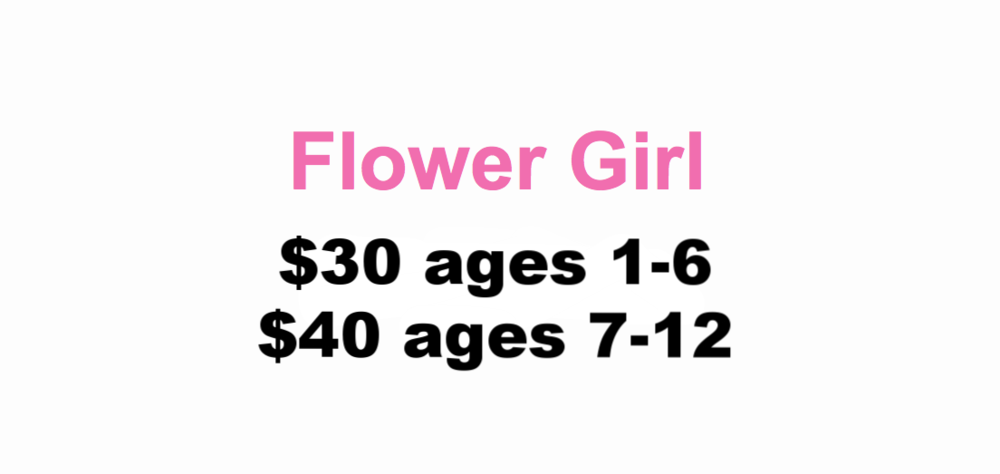 Formal hair design, light eye shadow and blush application, complimentary shimmer or sparkly lip gloss to keep $25+
