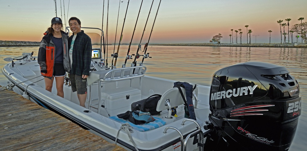 Ray and his daughter Kristen ready to roll on the Ranger 240 Bahia!