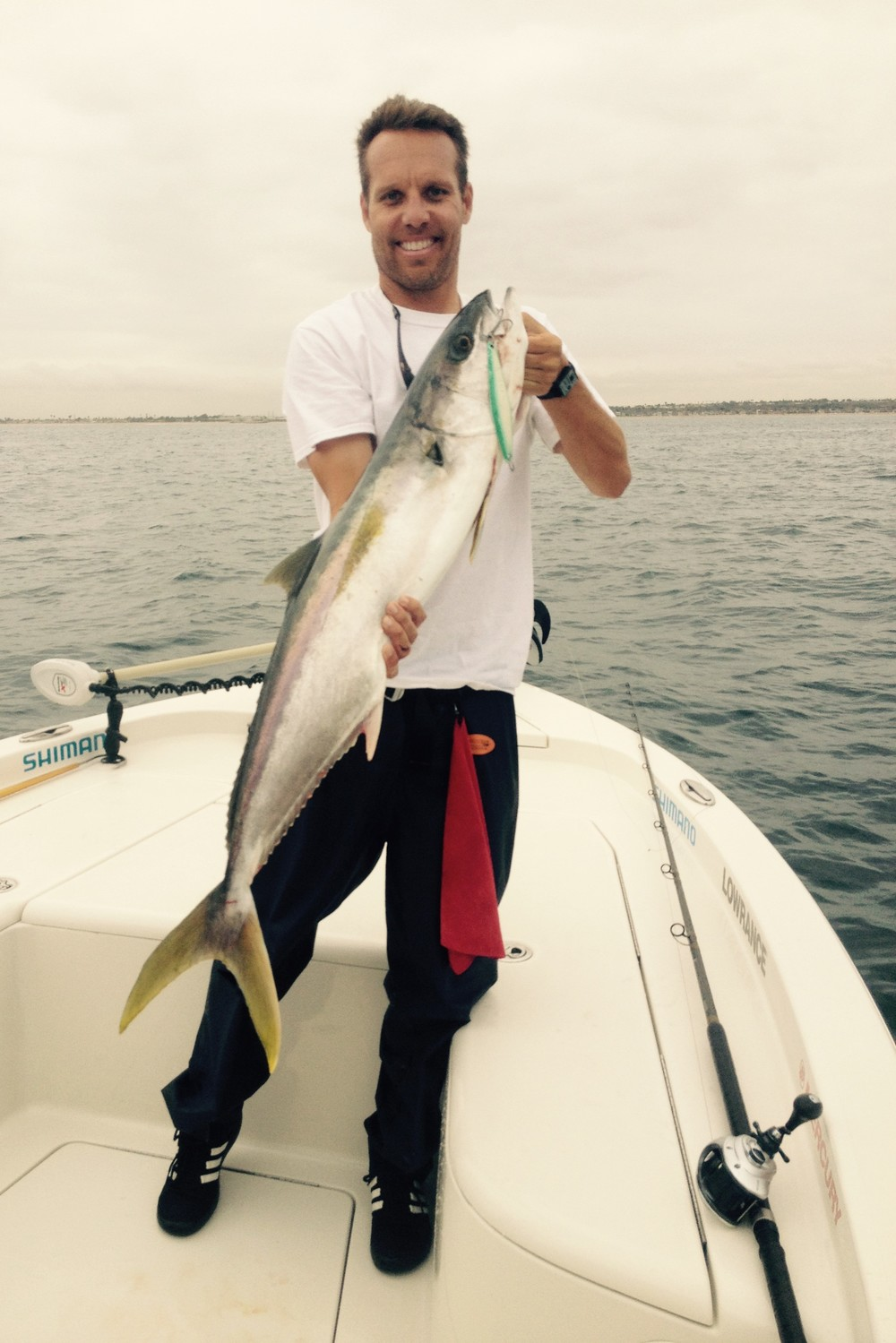 Scott doubled up on a 20 pound class local Yellowtail!