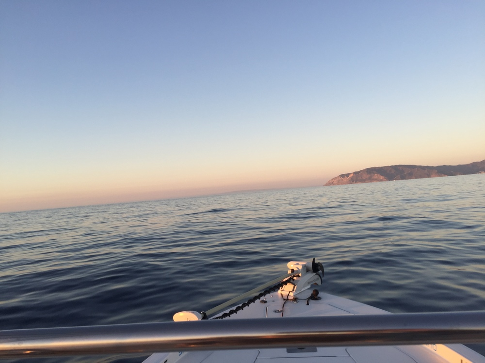 40 knots towards the East End of Catalina Island