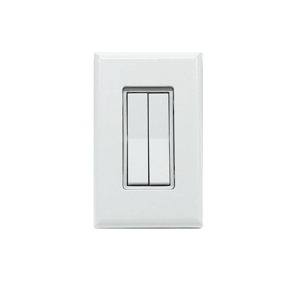 Dual Rocker Wireless Switch