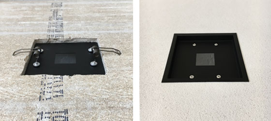 Airelight Square Trim Kit Held In Ceiling Tile with Springs